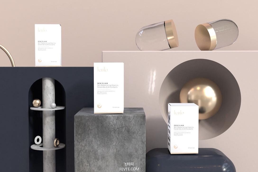 简约风格保健品包装设计 飞特网 药品包装设计