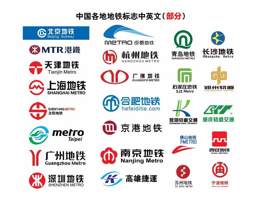中国各大城市地铁LOGO欣赏
