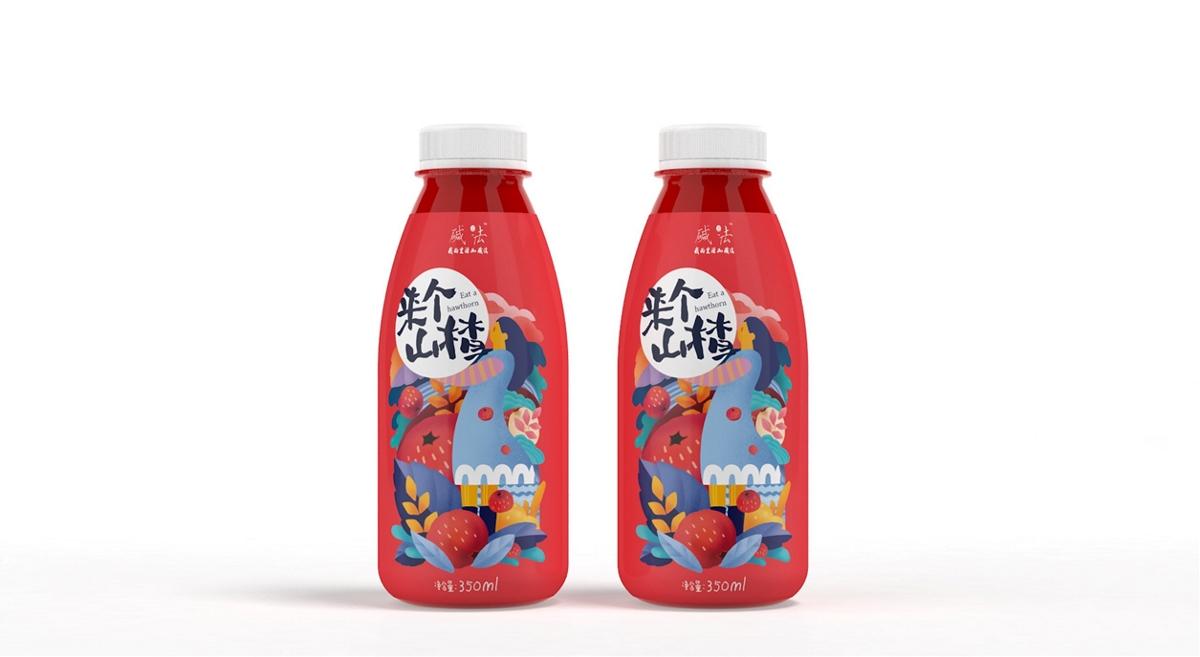饮料包装:来个山楂原浆包装礼盒设计制作加工定制生产厂家