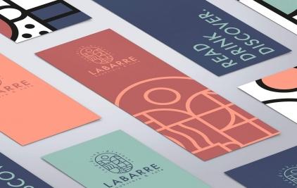 Labarre咖啡书店品牌VI设计