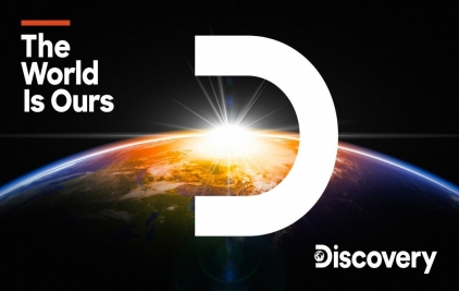 Discovery探索频道发布新LOGO,思聪吃热狗,贝爷吃地球!