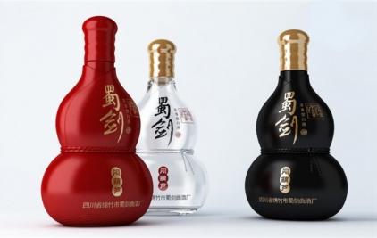 四川省绵竹蜀剑曲白酒厂包装礼盒设计